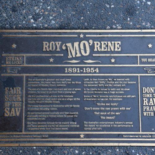 Roy Mo'Rene Plakete