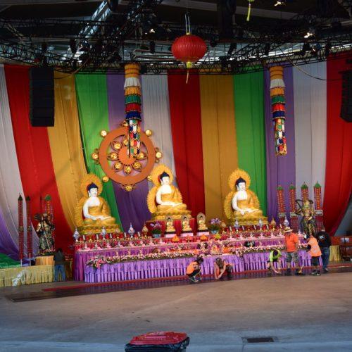 Vorbereitung Buddha Fest