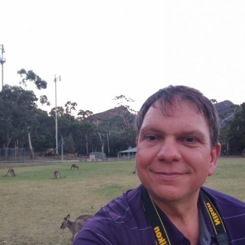 Selfie vor Kangaroos
