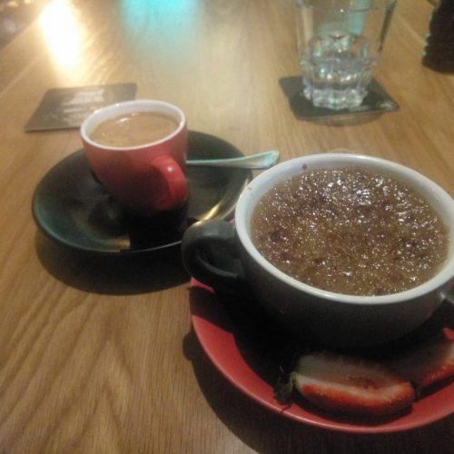 Creme Brullee aus Irish Coffee und ein doppelter Espresso